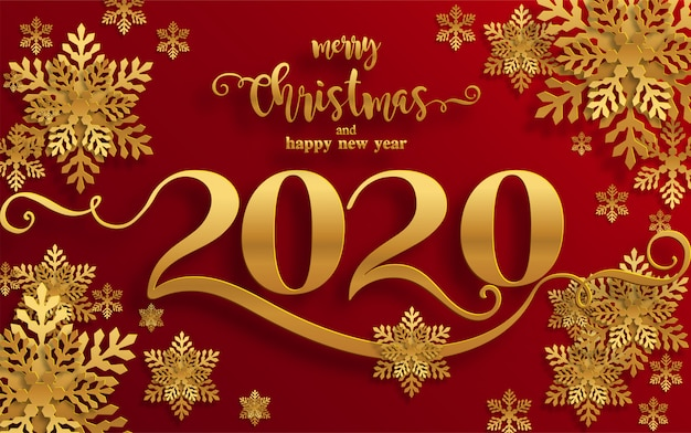 Merry Christmas Images 2020.Merry Christmas Greetings And Happy New Year 2020 Templates
