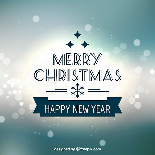 Merry Christmas & Happy New Year 2015 Vector | Free Download