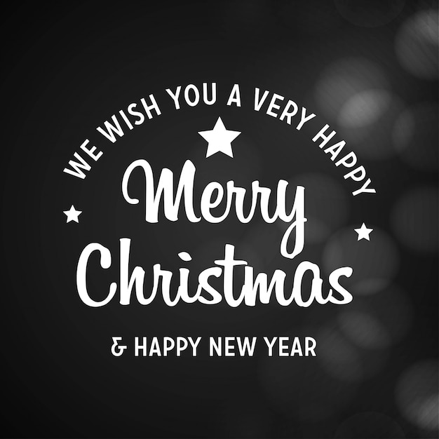 Merry christmas and happy new year 2019 black background Free Vector