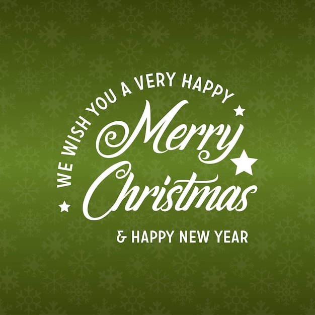 Merry christmas and happy new year 2019 green background Free Vector
