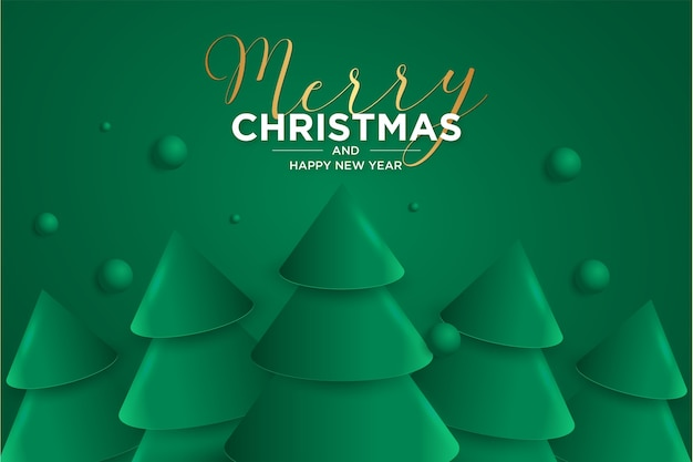 Free Christmas Pictures 2021 Free Vector Merry Christmas And Happy New Year 2021 Card With Elegant 3d Christmas Tree