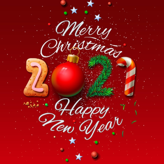 premium vector merry christmas and happy new year 2021 greeting card https www freepik com profile preagreement getstarted 10555793