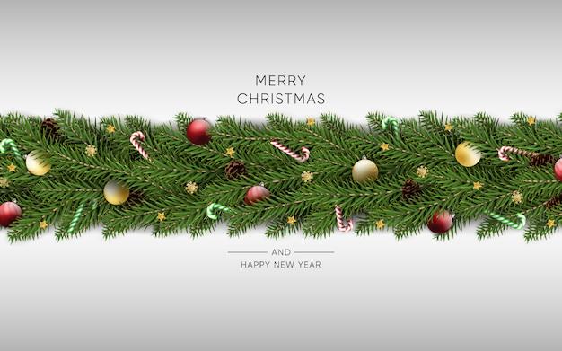Merry christmas happy new year background Premium Vector
