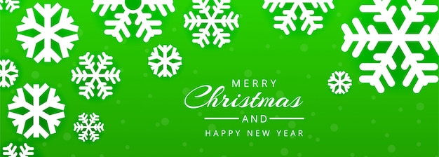Merry christmas and happy new year banner template Free Vector