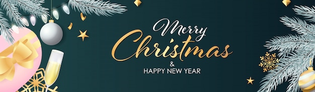 The Best Merry Christmas And Happy New Year Banner