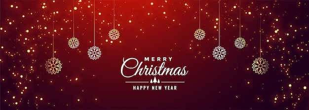 Free Vector | Merry christmas and happy new year banner