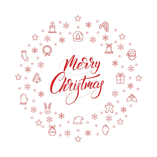 Merry christmas and happy new year banner Premium Vector