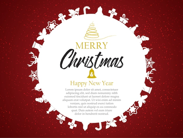 premium vector merry christmas and happy new year greeting card template https www freepik com profile preagreement getstarted 3353641