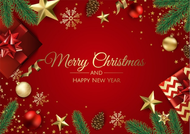 premium vector merry christmas and happy new year greeting card https www freepik com profile preagreement getstarted 6003504