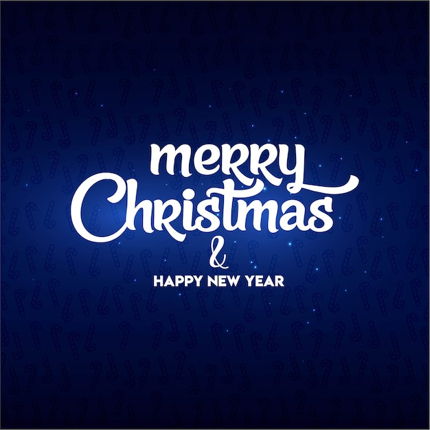Merry christmas and happy new year lettering Free Vector