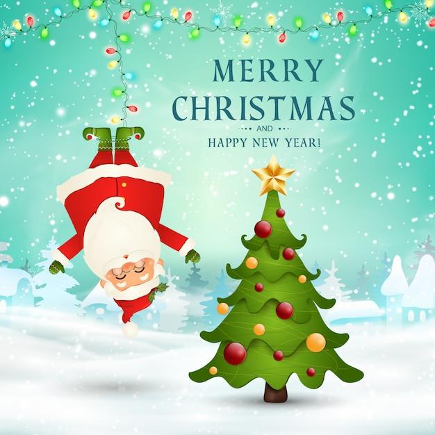 Merry christmas. happy new year. | Premium Vector