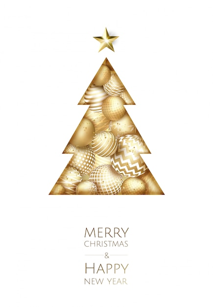 Merry christmas and happy new year. Premium Vector