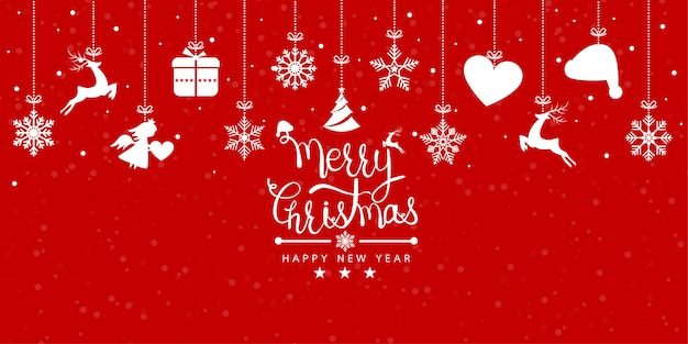 Merry christmas and happy new years Premium Vector