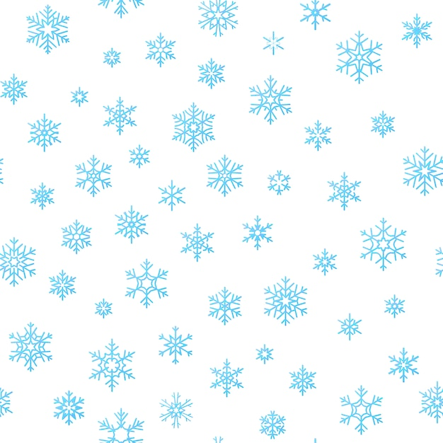 Merry christmas holiday decoration effect background. blue snowflake seamless pattern template. Premium Vector