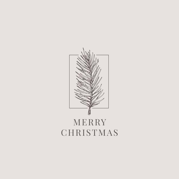 メリークリスマスイラスト Premiumベクター