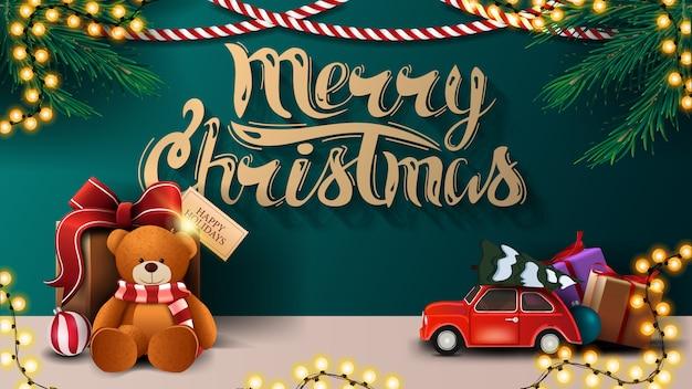 Merry christmas illustration Premium Vector