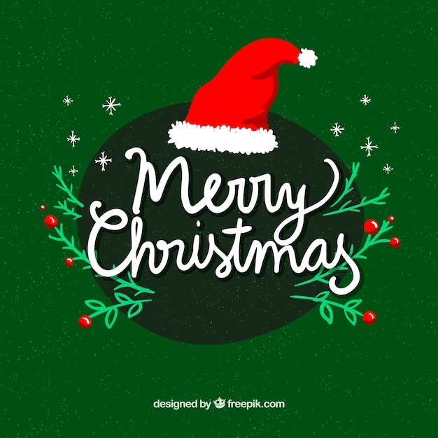 merry christmas in cursive lettering free vector