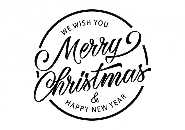 Merry Christmas Inscription In Circle Vector Free Download