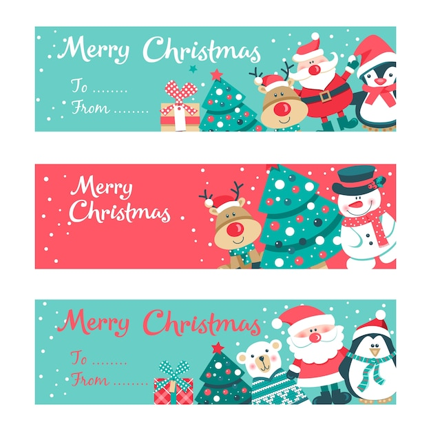 Merry Christmas Invitation Card Vector Premium Download