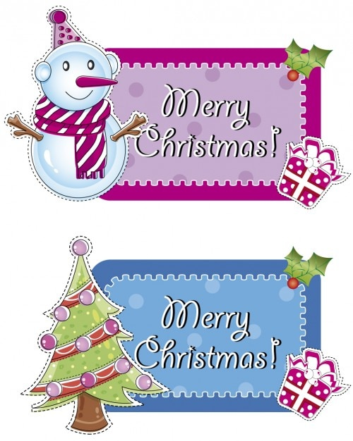 Merry Christmas Labels.Merry Christmas Labels Vector Free Download