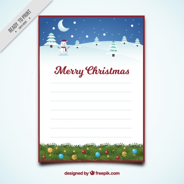 Merry christmas letter template with snowy landscape vector free merry christmas letter template with snowy landscape free vector spiritdancerdesigns Gallery