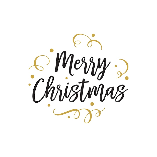 Christmas Lettering.Merry Christmas Lettering For Party Vector Free Download