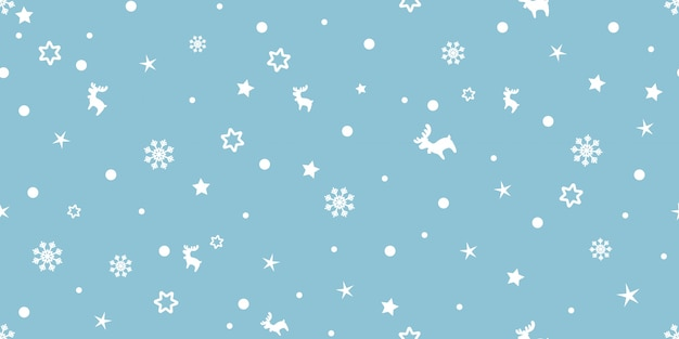 Merry christmas, a lot of xmas element seamless pattern. Premium Vector