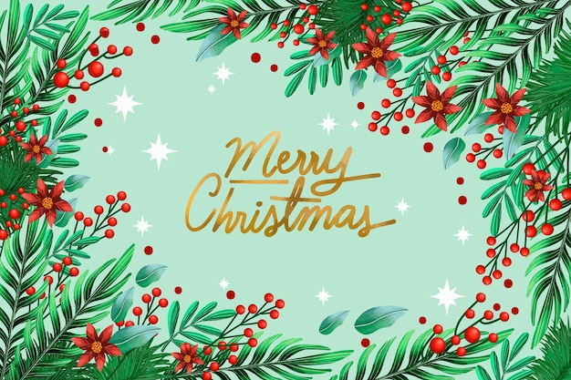 С рождеством христовым омела фон Бесплатные векторы