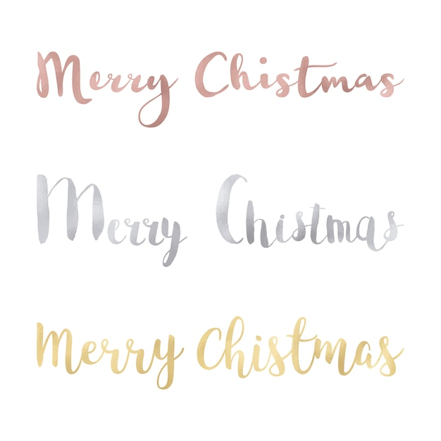 Merry christmas multicolor design Free Vector
