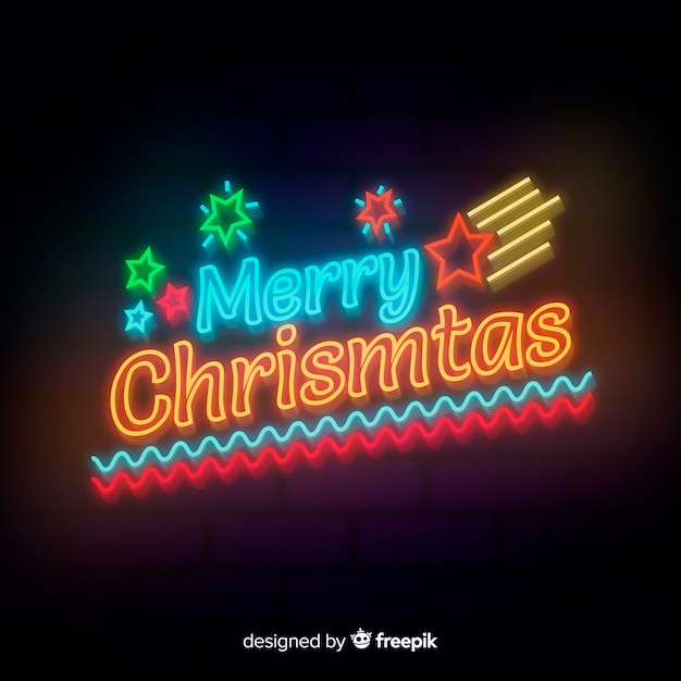 merry christmas neon background 23 2147995540