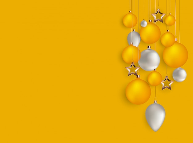 Merry christmas and new year background. vector illustration Premium Vector
