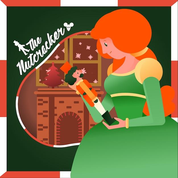 Merry christmas nutcracker Premium Vector