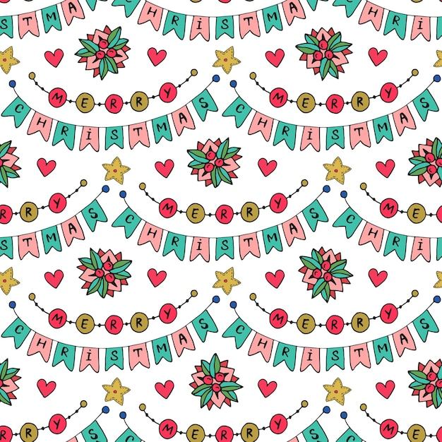 Merry Christmas Party Modern Background Vector Design For Wrapping Or Holiday Decorations Premium
