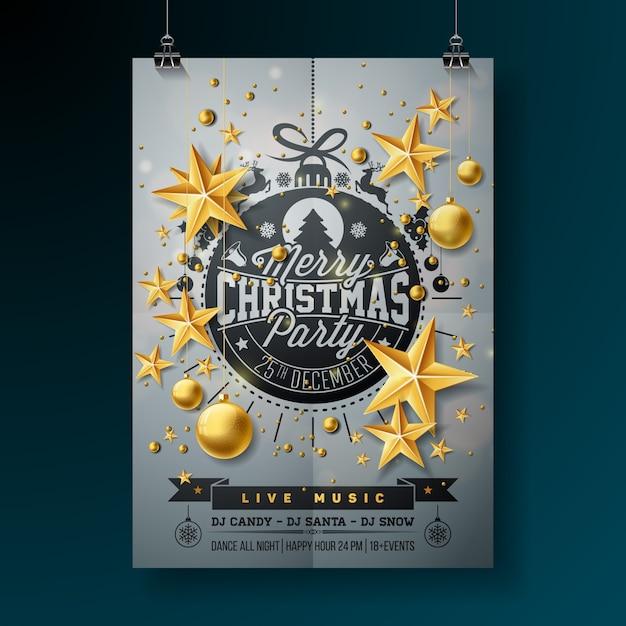 d32a837820 Merry Christmas Party Premium Vector