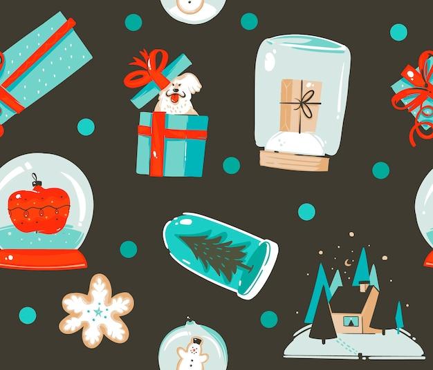 メリークリスマスパターン Premiumベクター