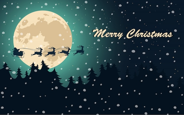 merry christmas poster vector free download