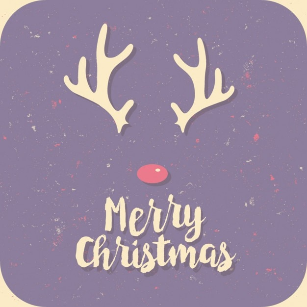 merry christmas purple card vector free download