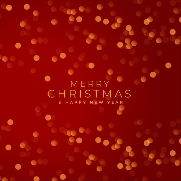 メリークリスマス赤祭りボケ味の背景 無料ベクター