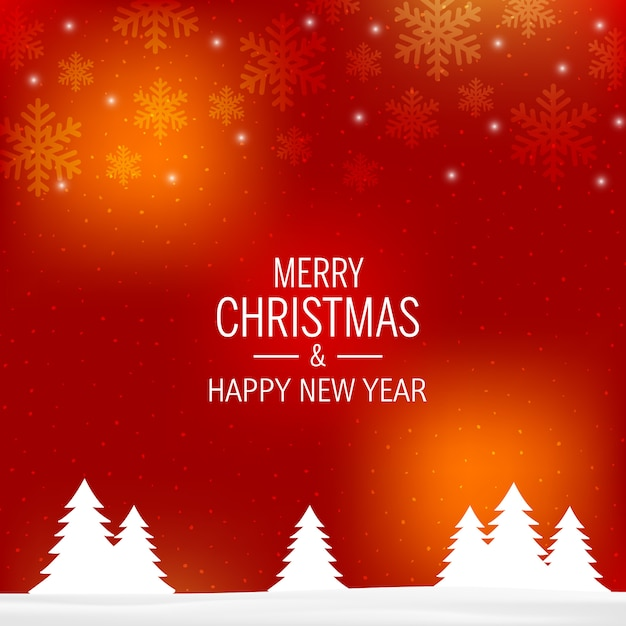 Premium Vector Merry Christmas Red Gradient Background
