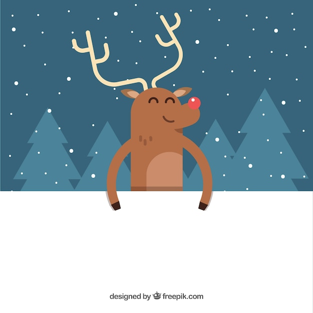 Merry christmas reindeer background