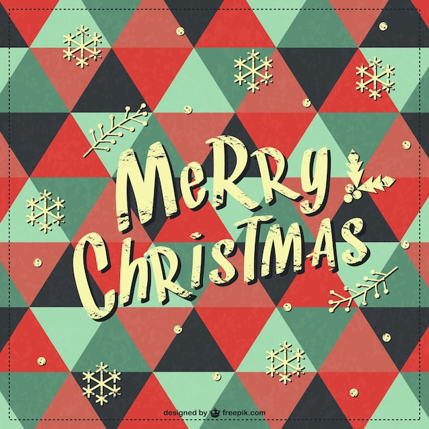 Merry Christmas retro background Vector | Free Download
