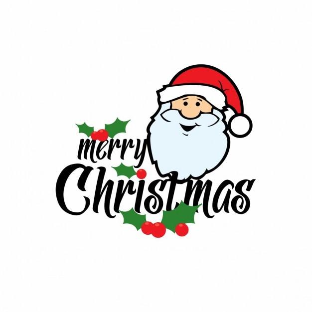 Merry christmas santa claus card Free Vector