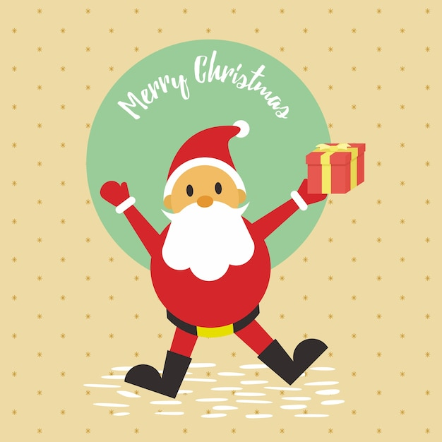 Merry Christmas Santa Gift Card Background Vector Graphic Illustration  Premium Vector
