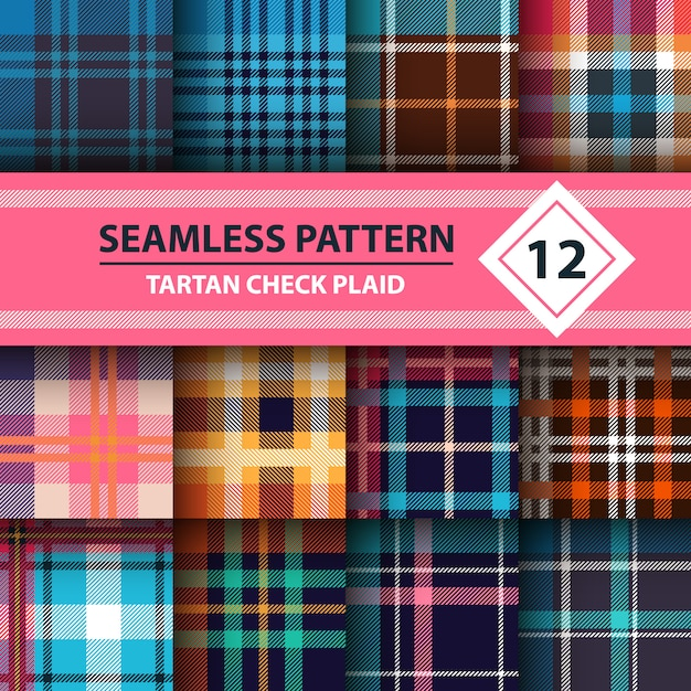 Merry christmas seamless patterns. Premium Vector