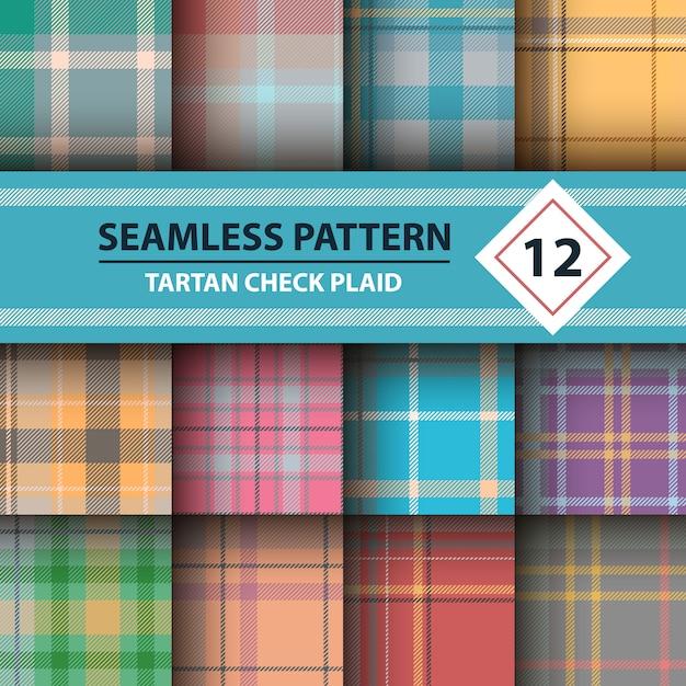 Merry christmas seamless patterns. Premium Vector