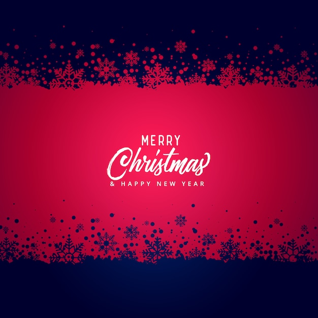 merry christmas snowflakes vector background Free Vector