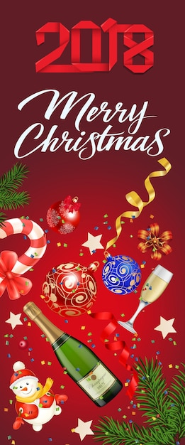Merry Christmas Sticker Vector Free Download
