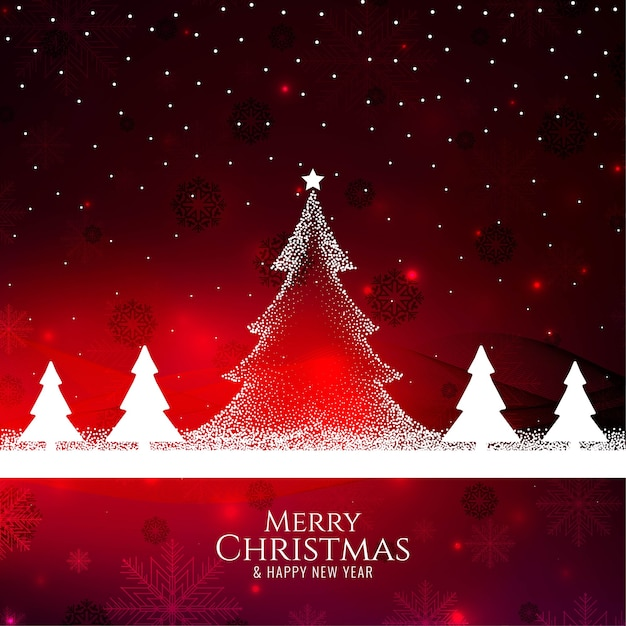 Merry christmas stylish decorative background Free Vector