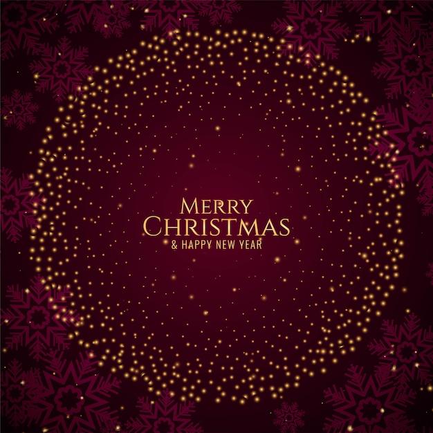 Merry christmas stylish glitters Free Vector