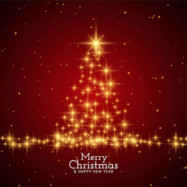 Merry christmas stylish modern red background Free Vector
